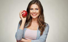 zena a jablko