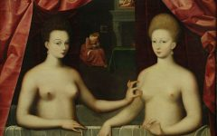 1280px-Portrait_présumé_de_Gabrielle_d'Estrées_et_de_sa_sœur_la_duchesse_de_Villars__Vers_1594